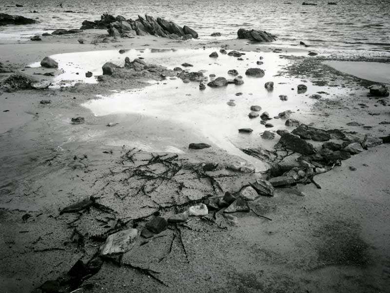 Broke Inlet, Fish Trap,  Australia, , black and white littoral landscape - © John Austin