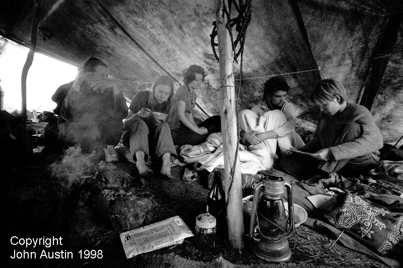 Forest Protest Camp Lane Forest Northcliffe 1998 - © John Austin