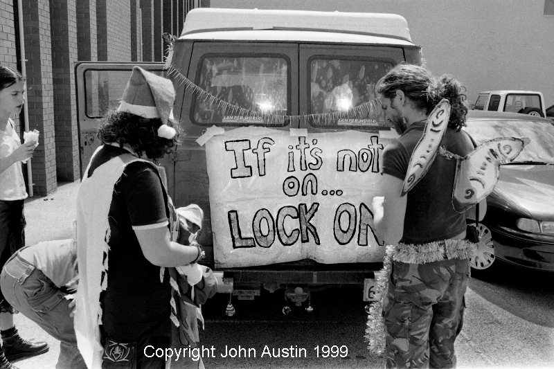 Forest Protest Bunnings Action 1999 - © John Austin