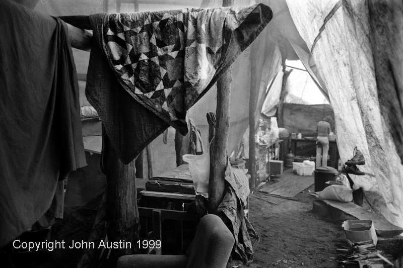 Forest Protest Camp and Kitchen 1999 - © John Austin